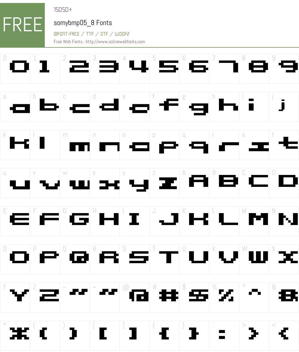 somybmp05_8 Font Screenshots