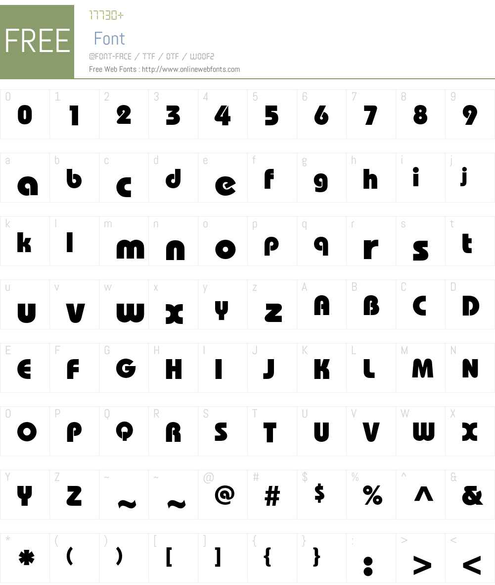 BauhausC Font Screenshots