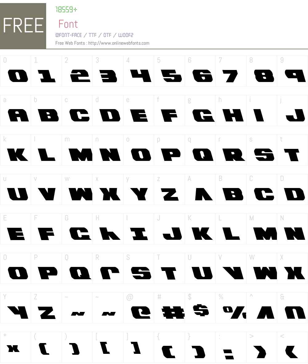Bummer Leftalic Font Screenshots