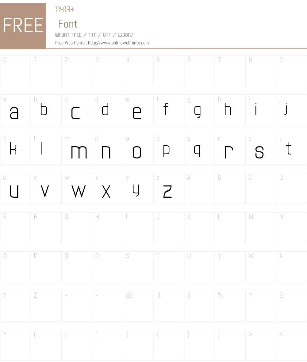twenty-one Font Screenshots