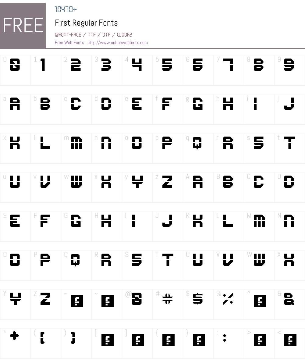 First Font Screenshots