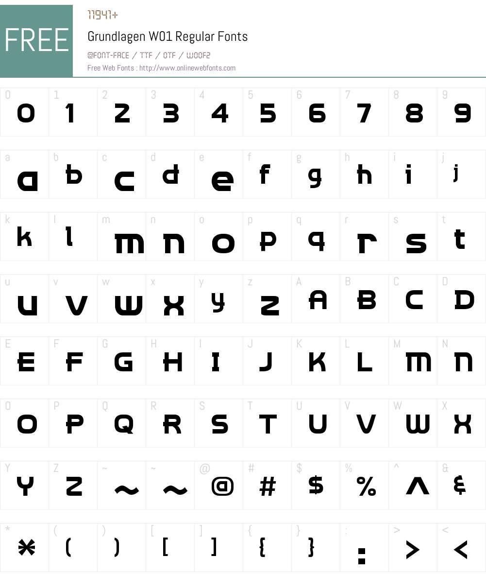 GrundlagenW01-Regular Font Screenshots