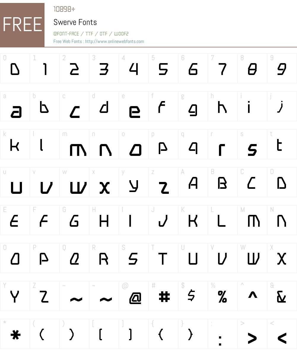 Swerve Font Screenshots