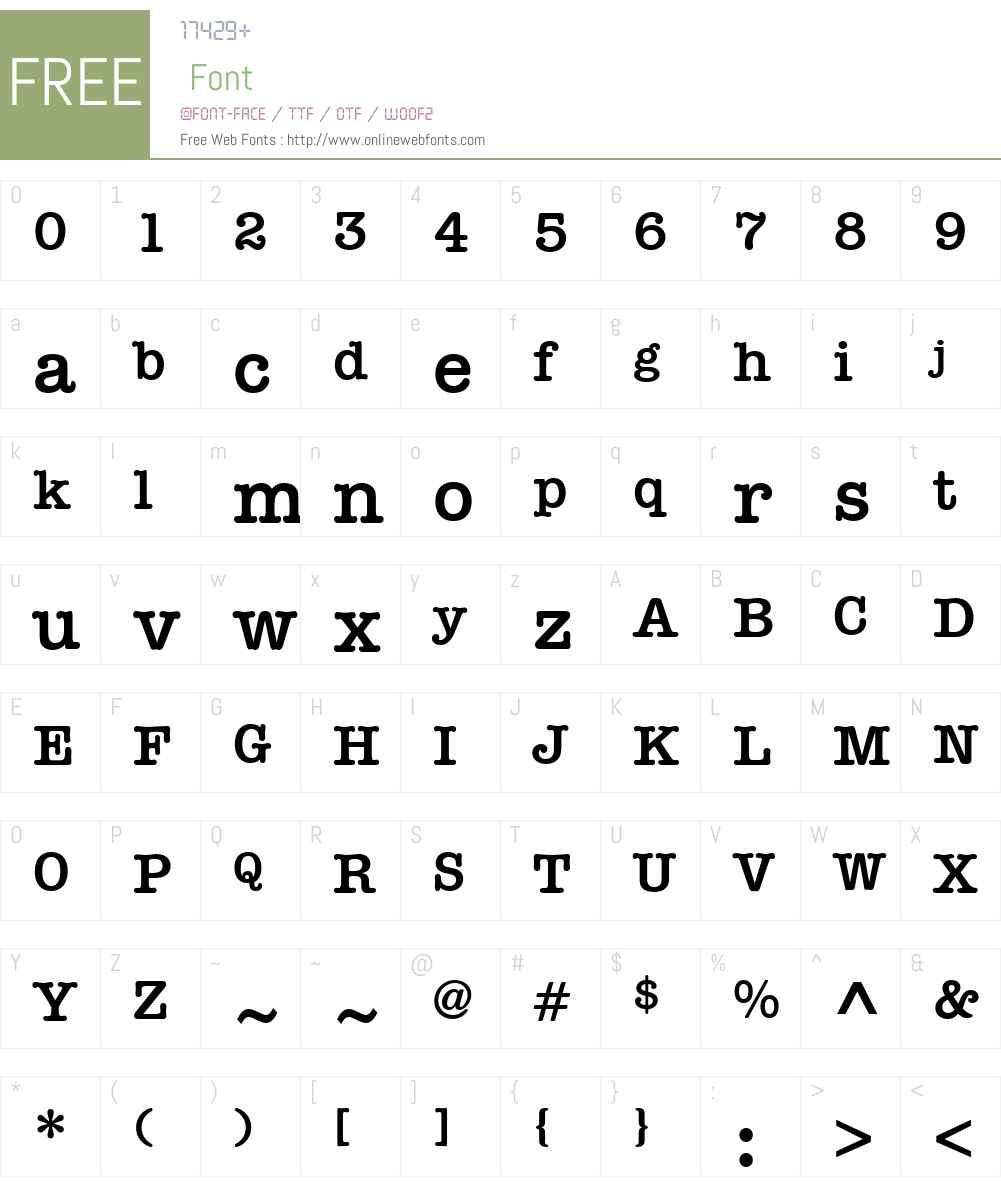 ITCAmTwriterHelW15-DemiBd Font Screenshots