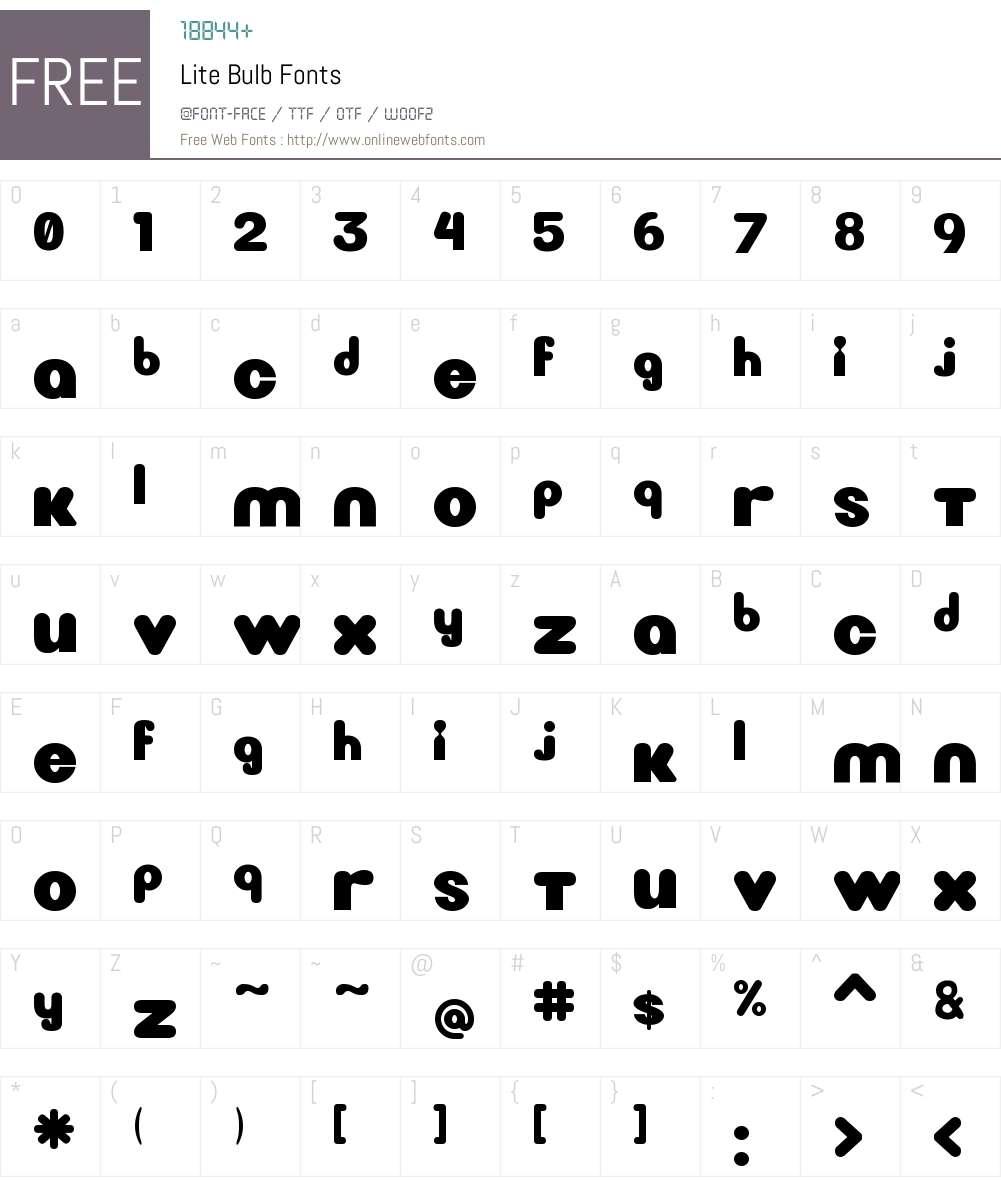 Lite Bulb Font Screenshots