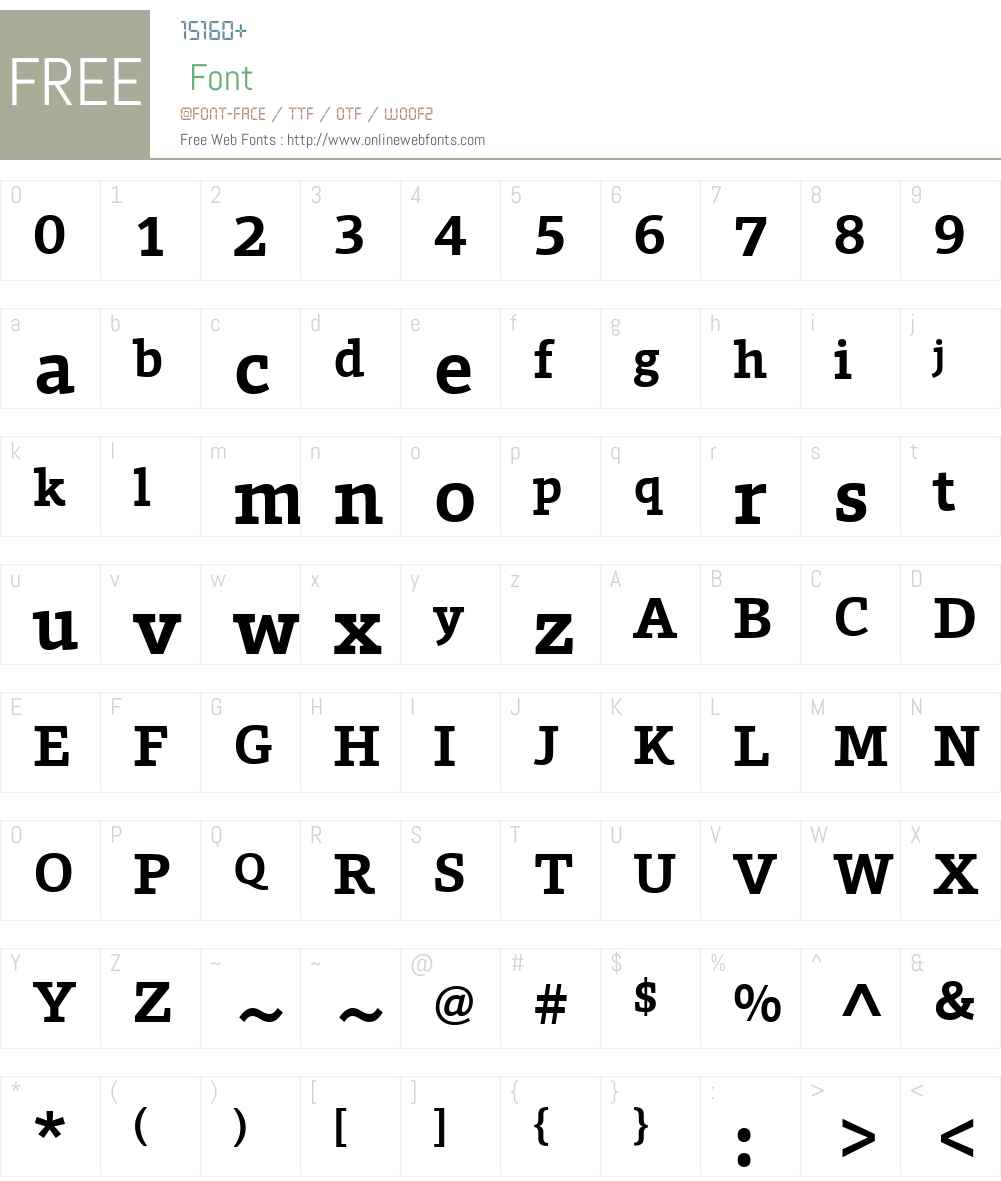 ForoW01-Bold Font Screenshots