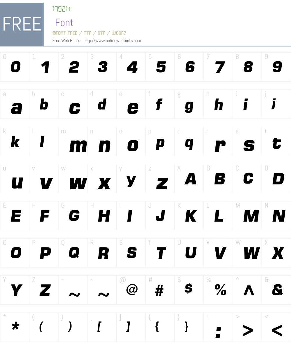 LHF Antique Half Block Font Screenshots