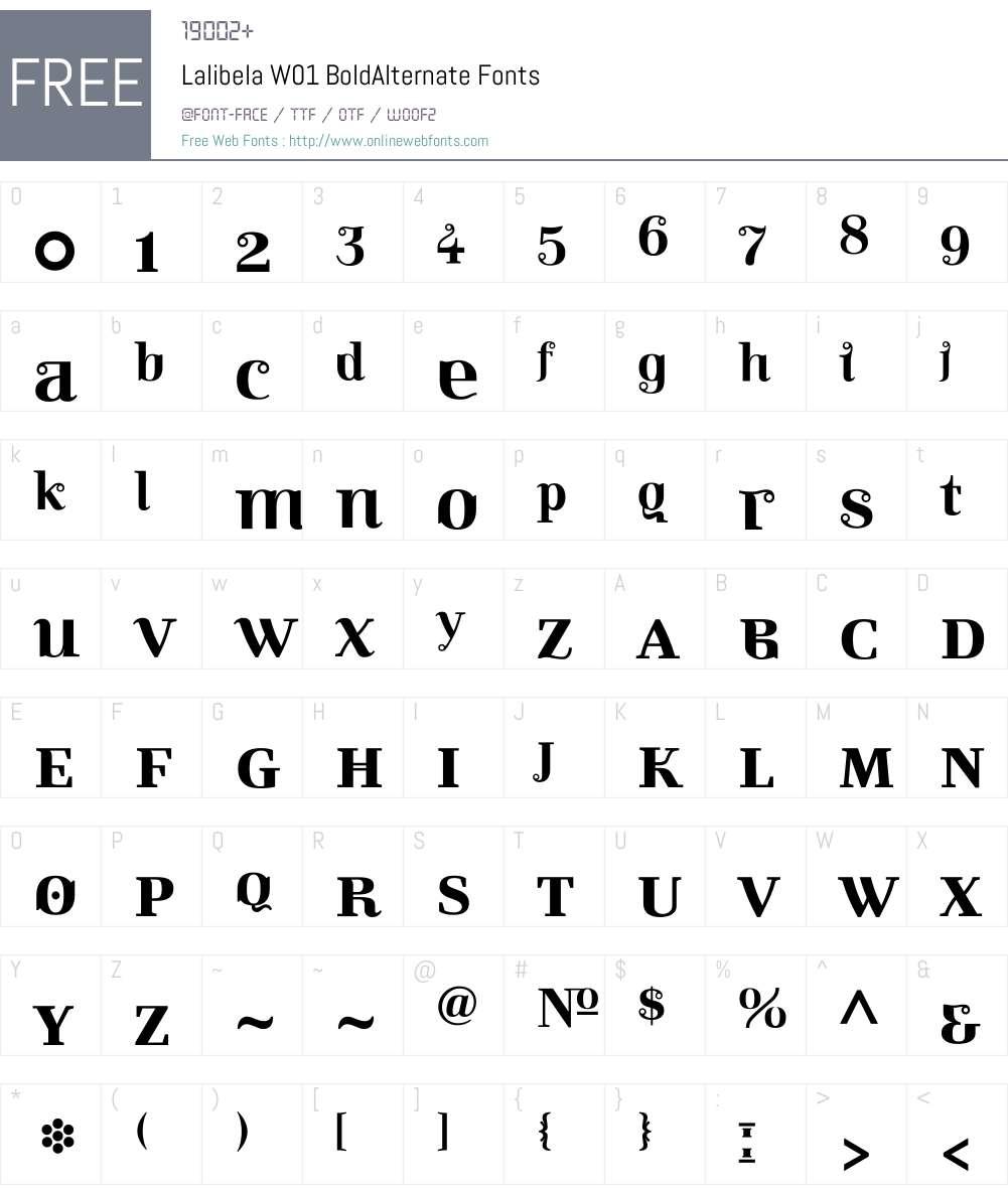 LalibelaW01-BoldAlternate Font Screenshots