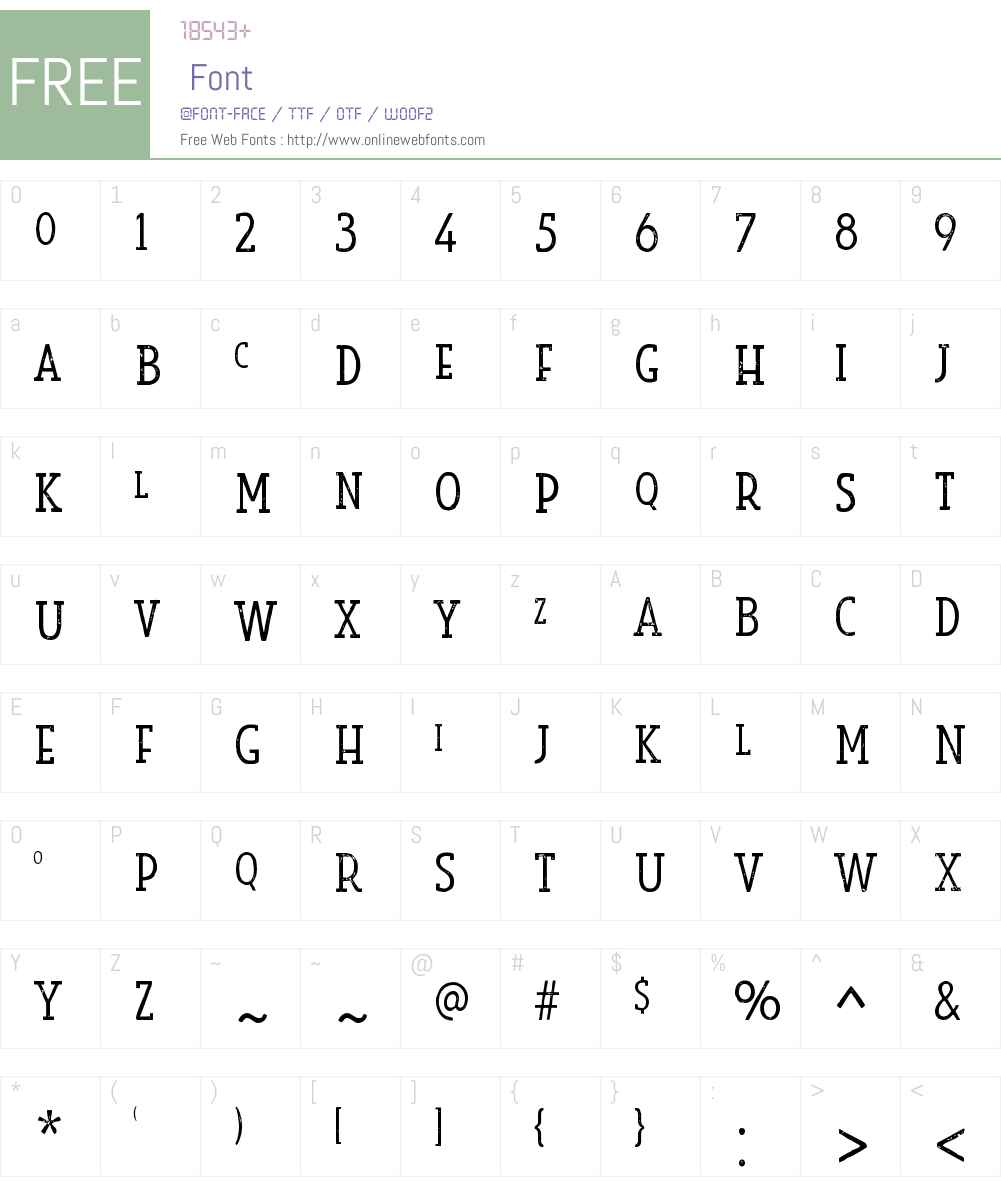 LookSerifW00-PrintLight Font Screenshots