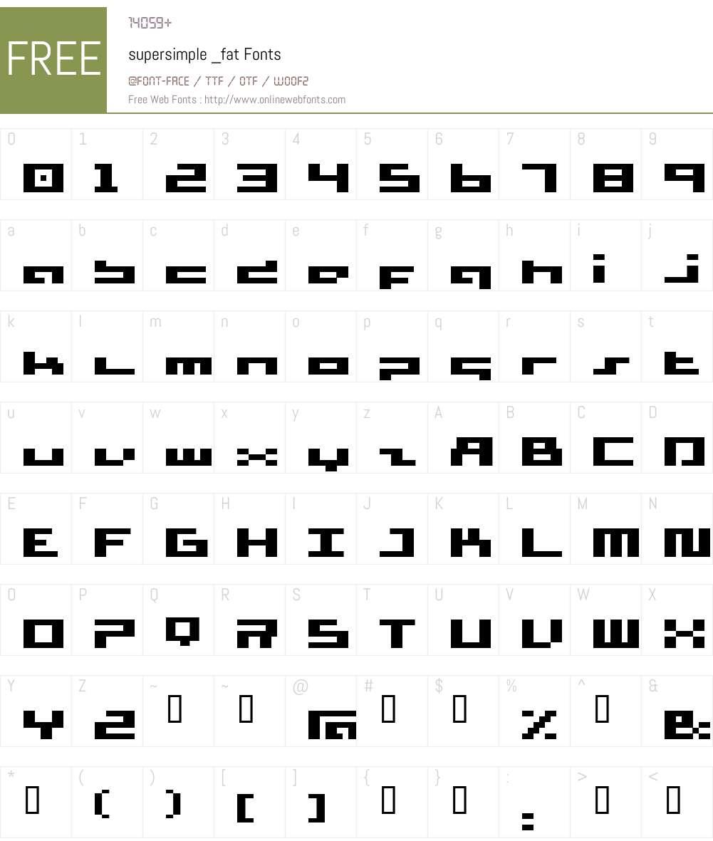 supersimple Font Screenshots