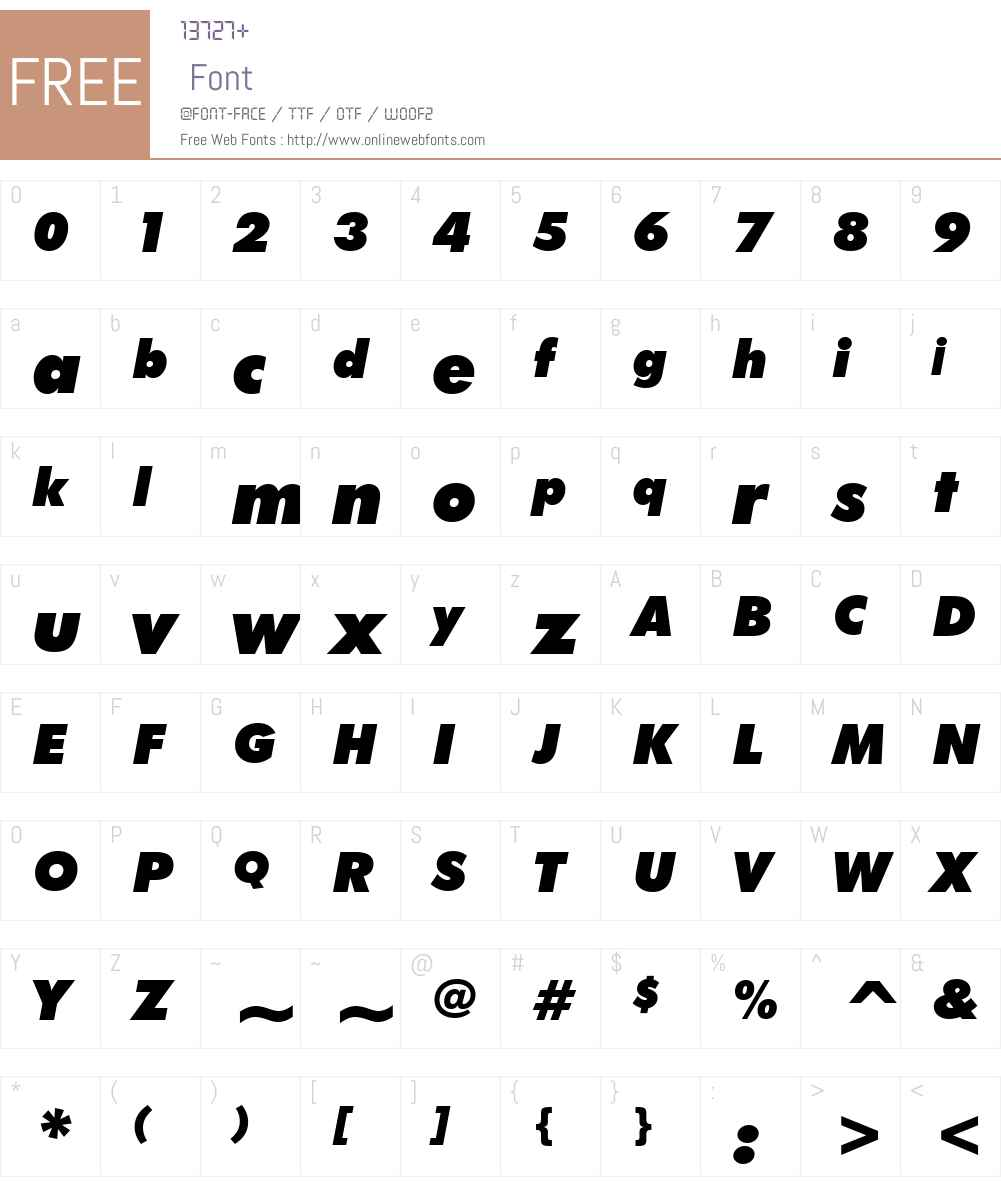 Futura XBlkIt BT Font Screenshots