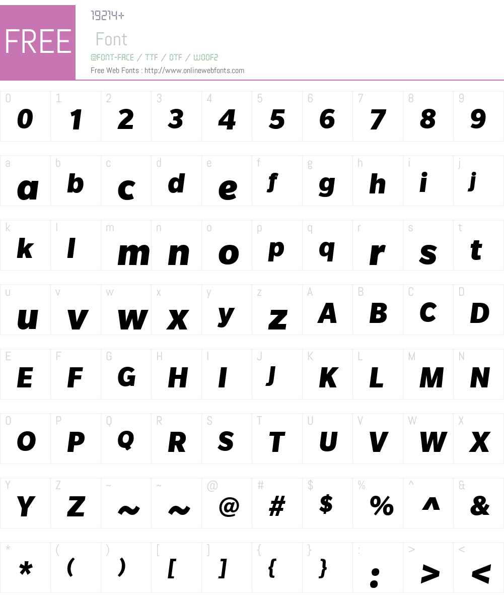 SlateW01-BlackItalic Font Screenshots