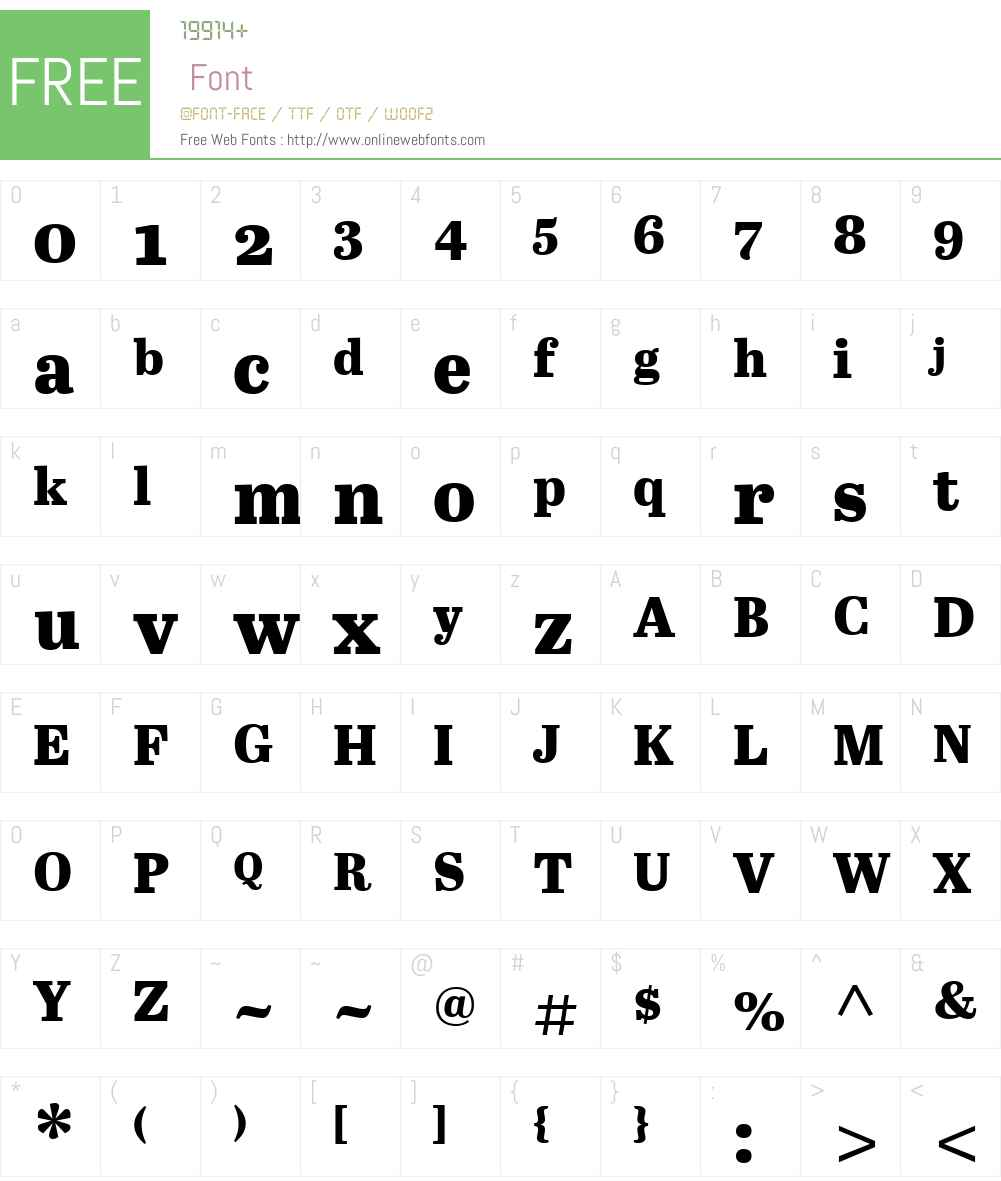 AbrilW01-TextXBold Font Screenshots