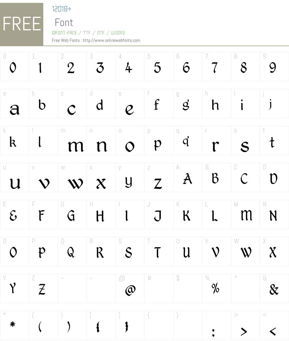 Kingthings Petrock Light Font Screenshots