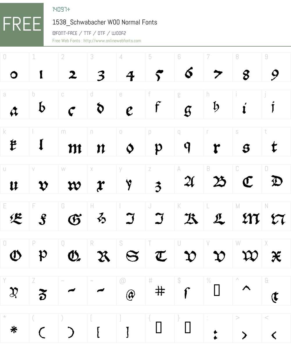 1538_Schwabacher Font Screenshots