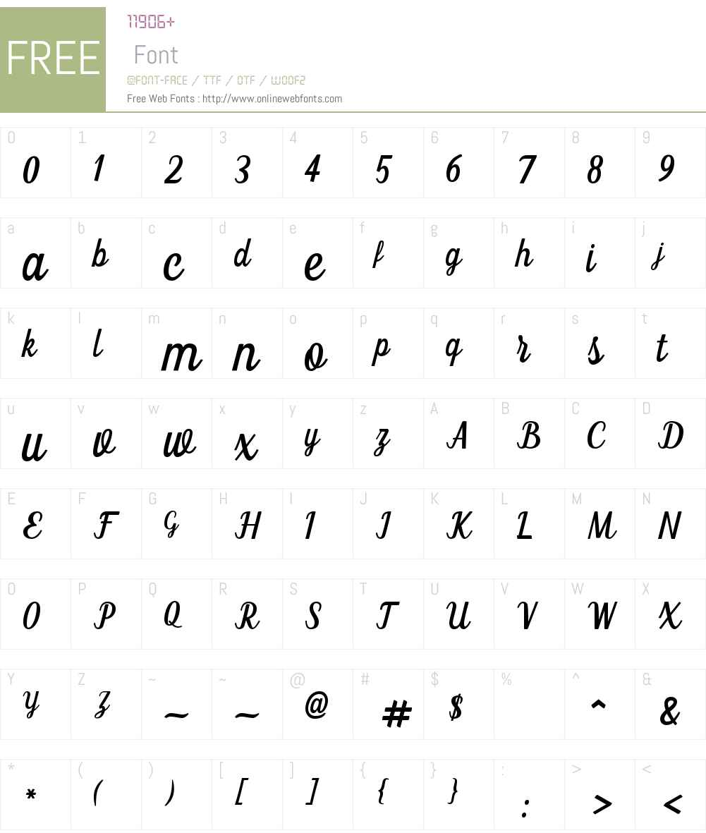 Claudia Font Screenshots