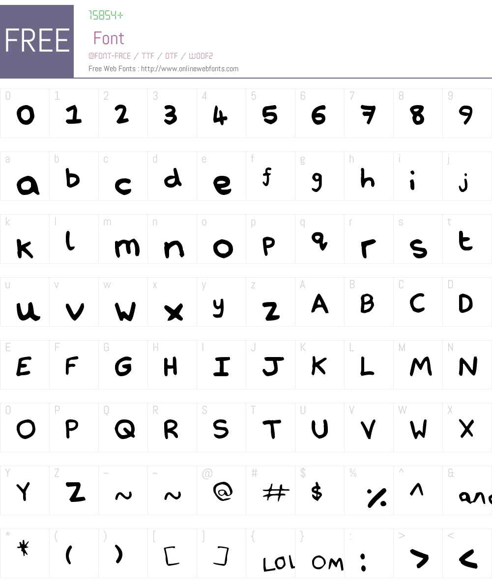 Nathan's Notations Font Screenshots