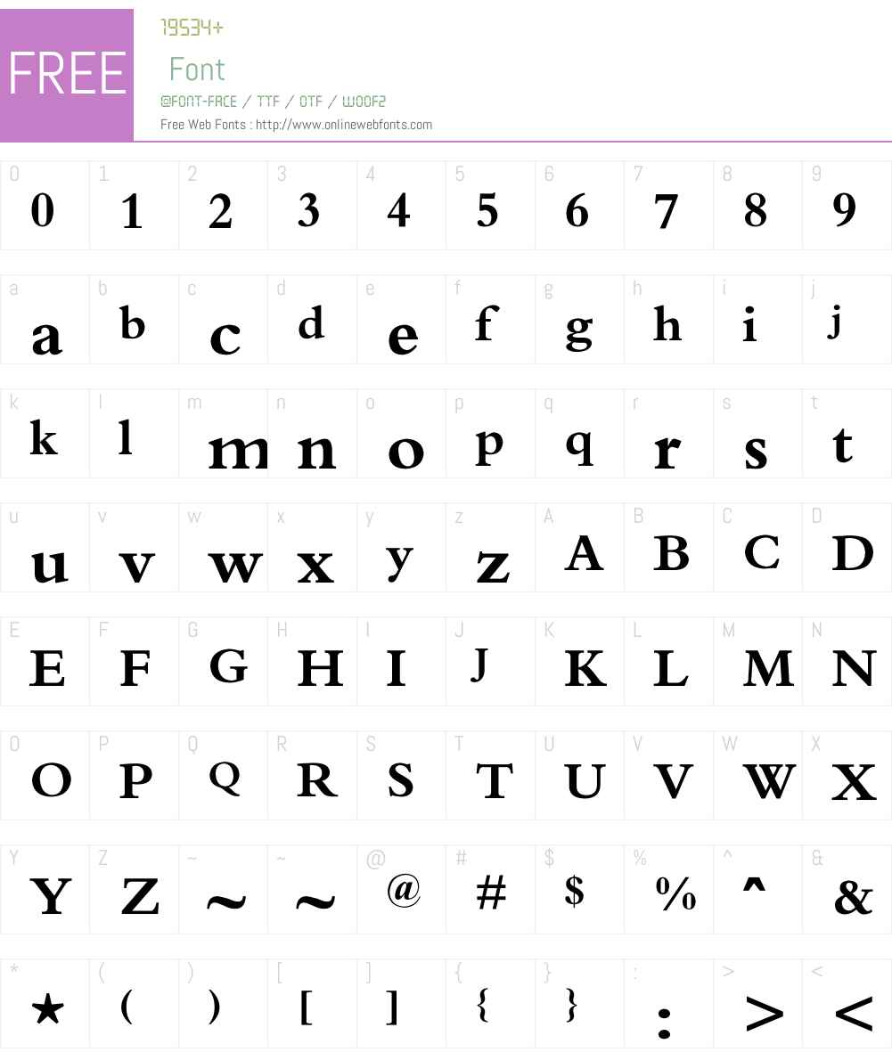 O`N Font Screenshots