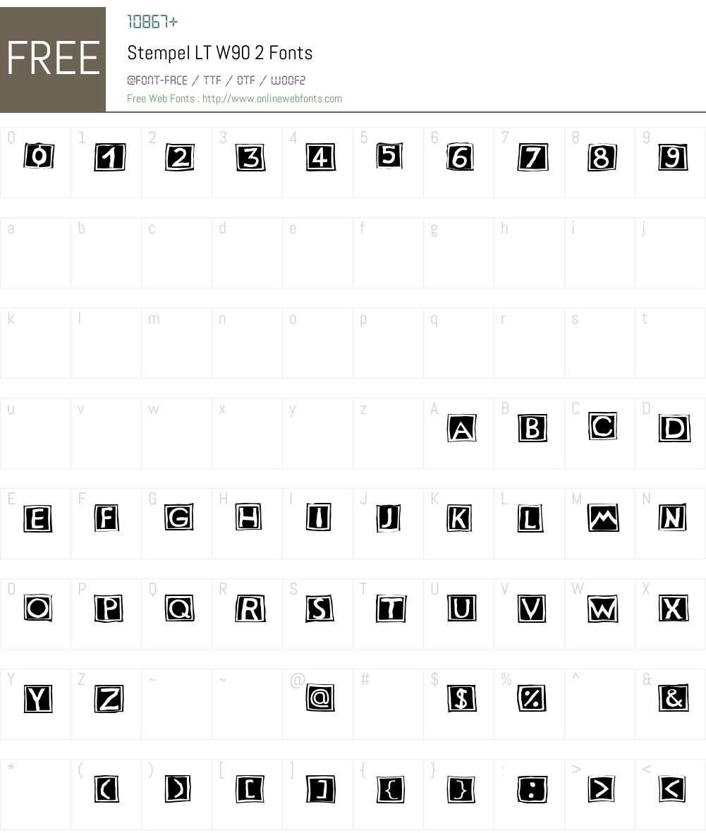 StempelLTW90-2 Font Screenshots