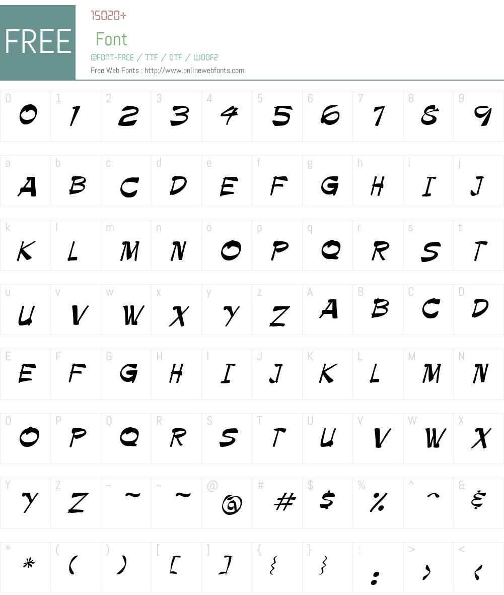 Krimpe Font Screenshots