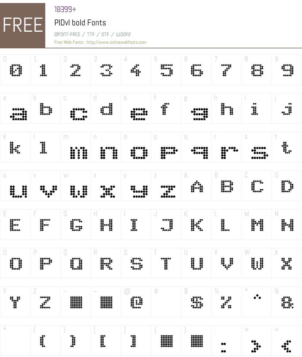 PIDvl bold Font Screenshots