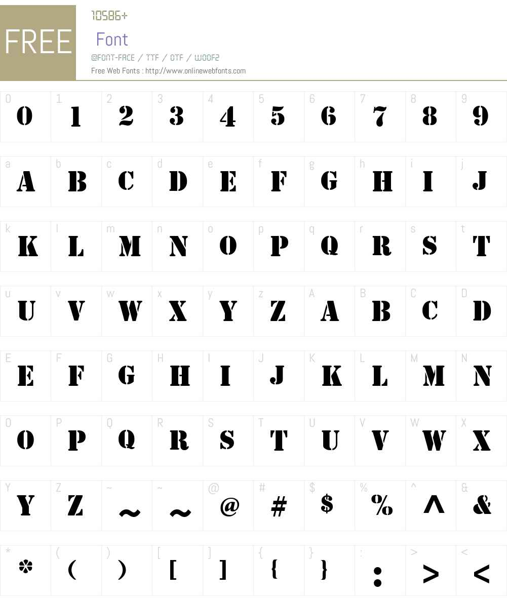 StencilW01-Bold Font Screenshots