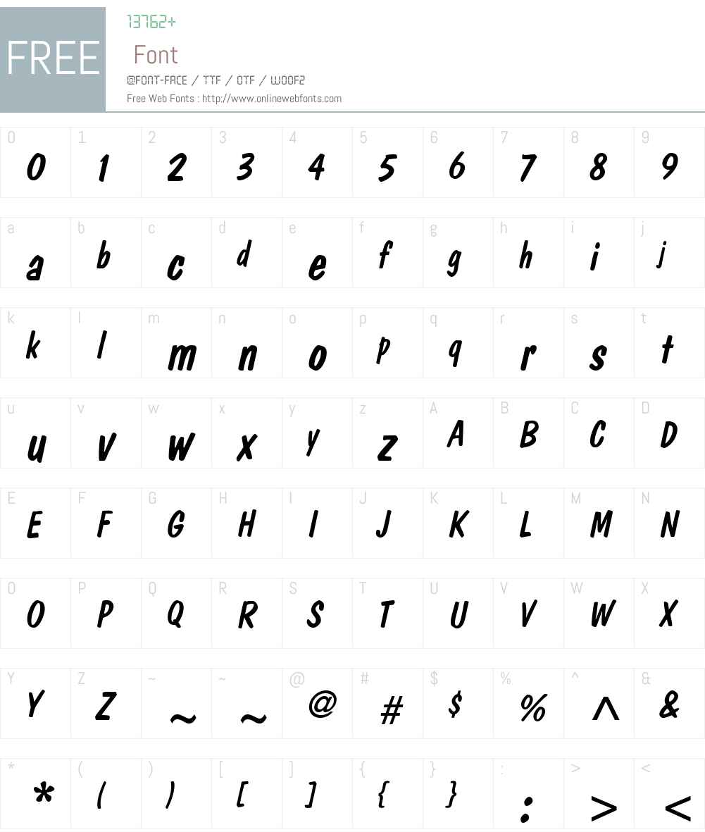 DomCasualW01-Diagonal Font Screenshots
