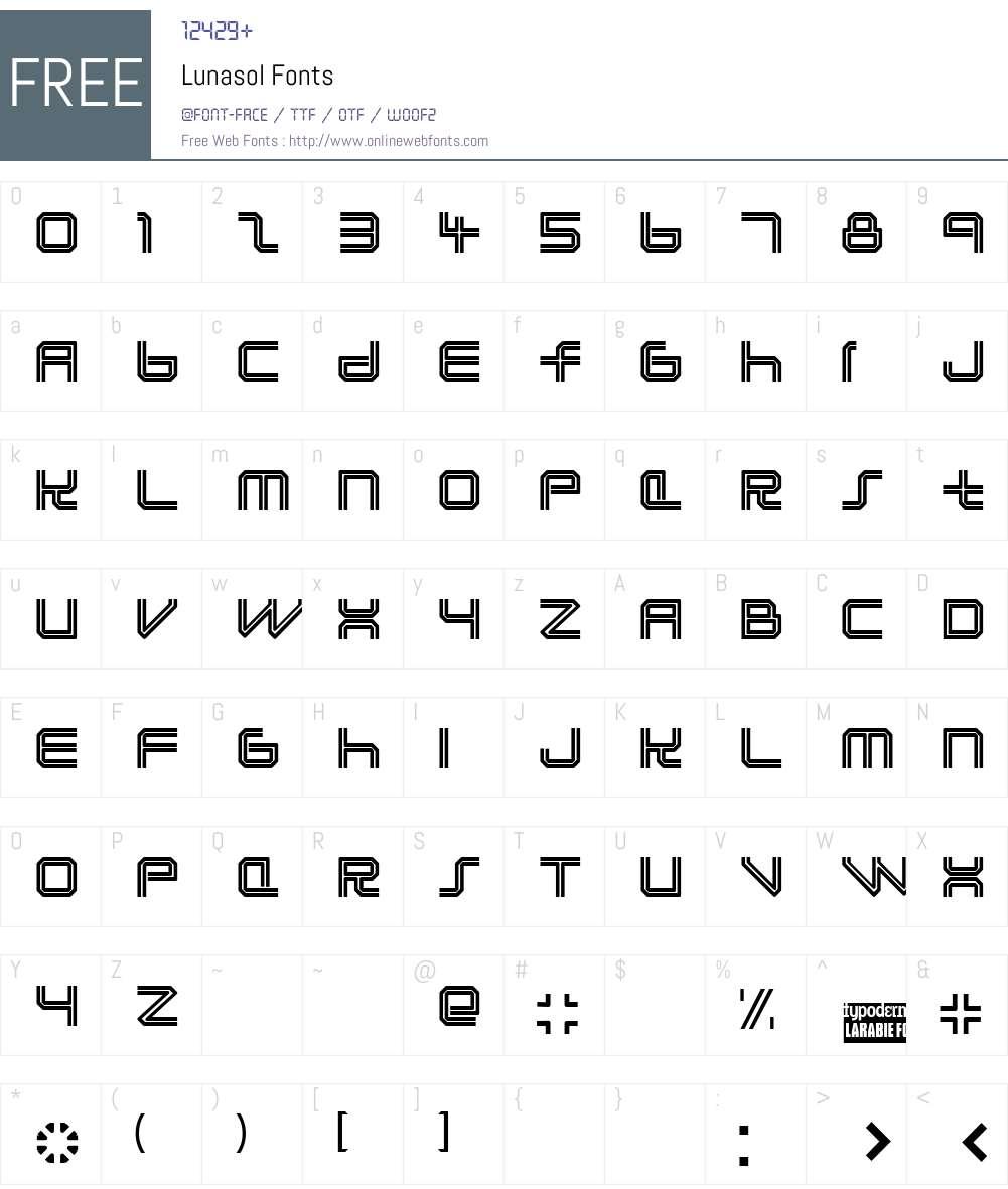 Lunasol Font Screenshots