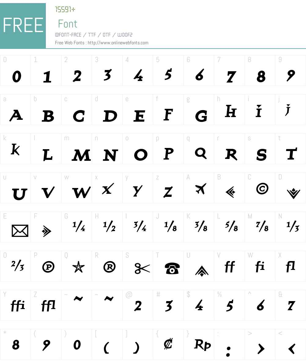 QuartetFractionsBold Font Screenshots