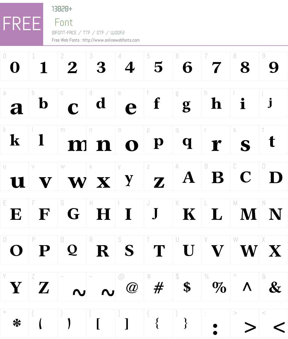 Garth Graphic Std Font Screenshots