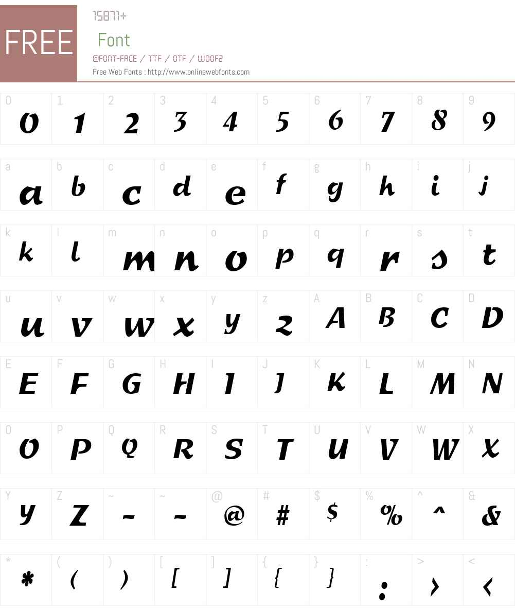 SprintCondensed Font Screenshots