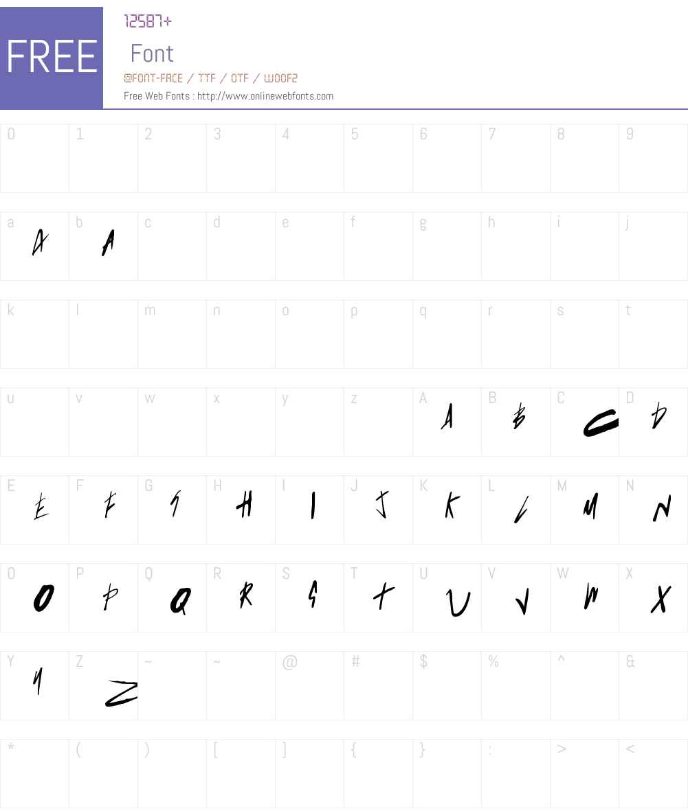 Born This Way FONT (lady gaga) Font Screenshots