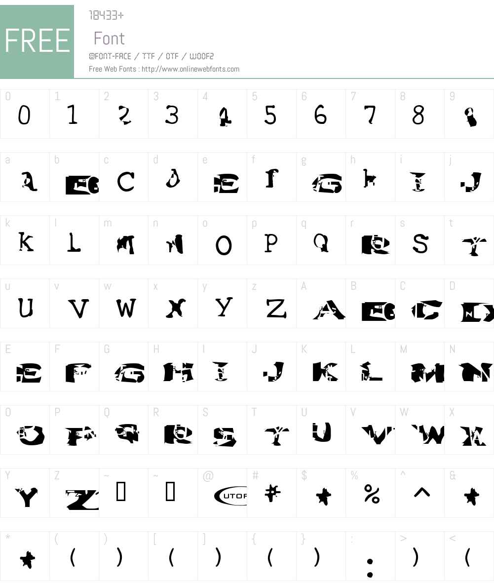 Water Torture Font Screenshots