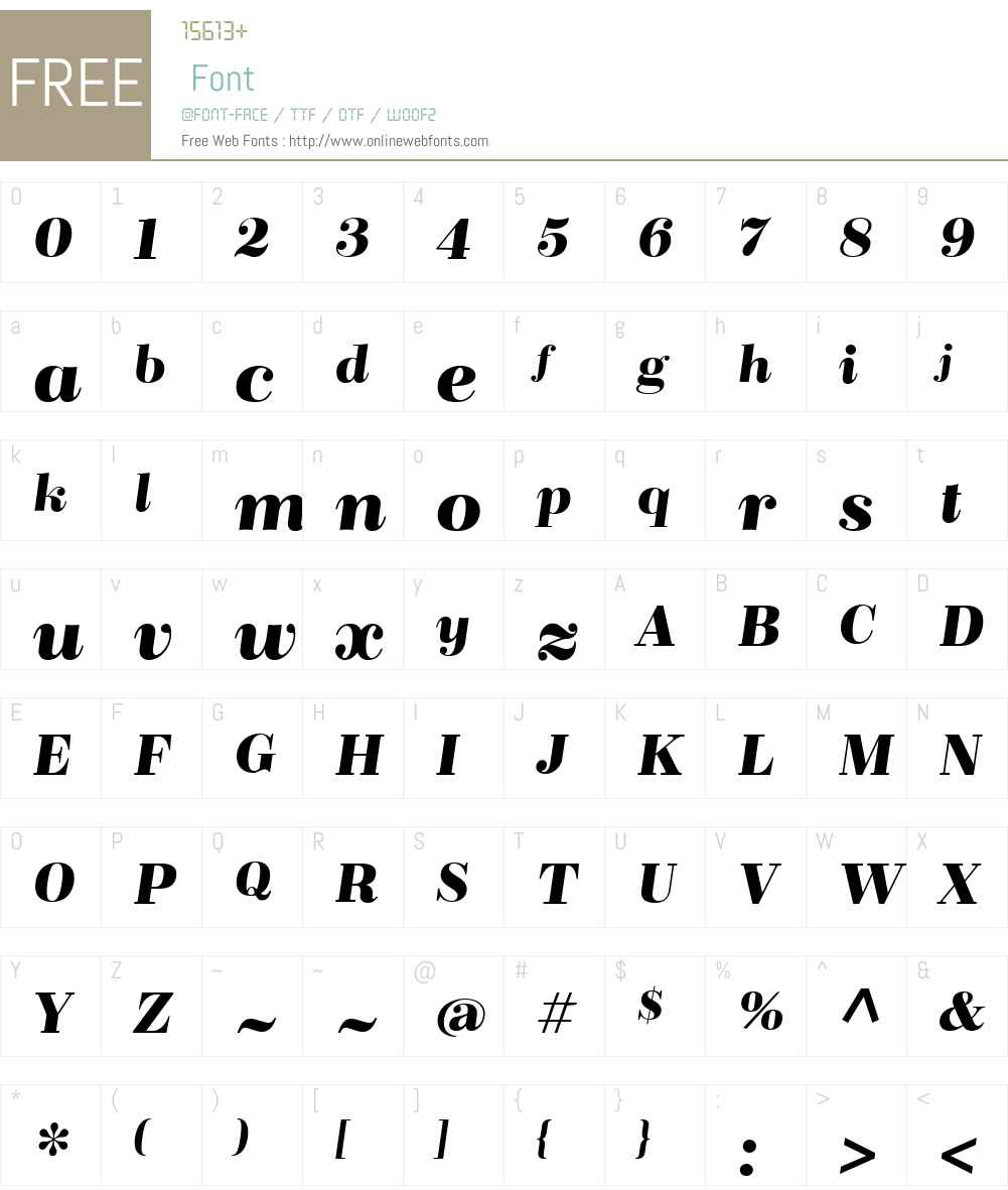 BridoneDemiBold-Italic Font Screenshots