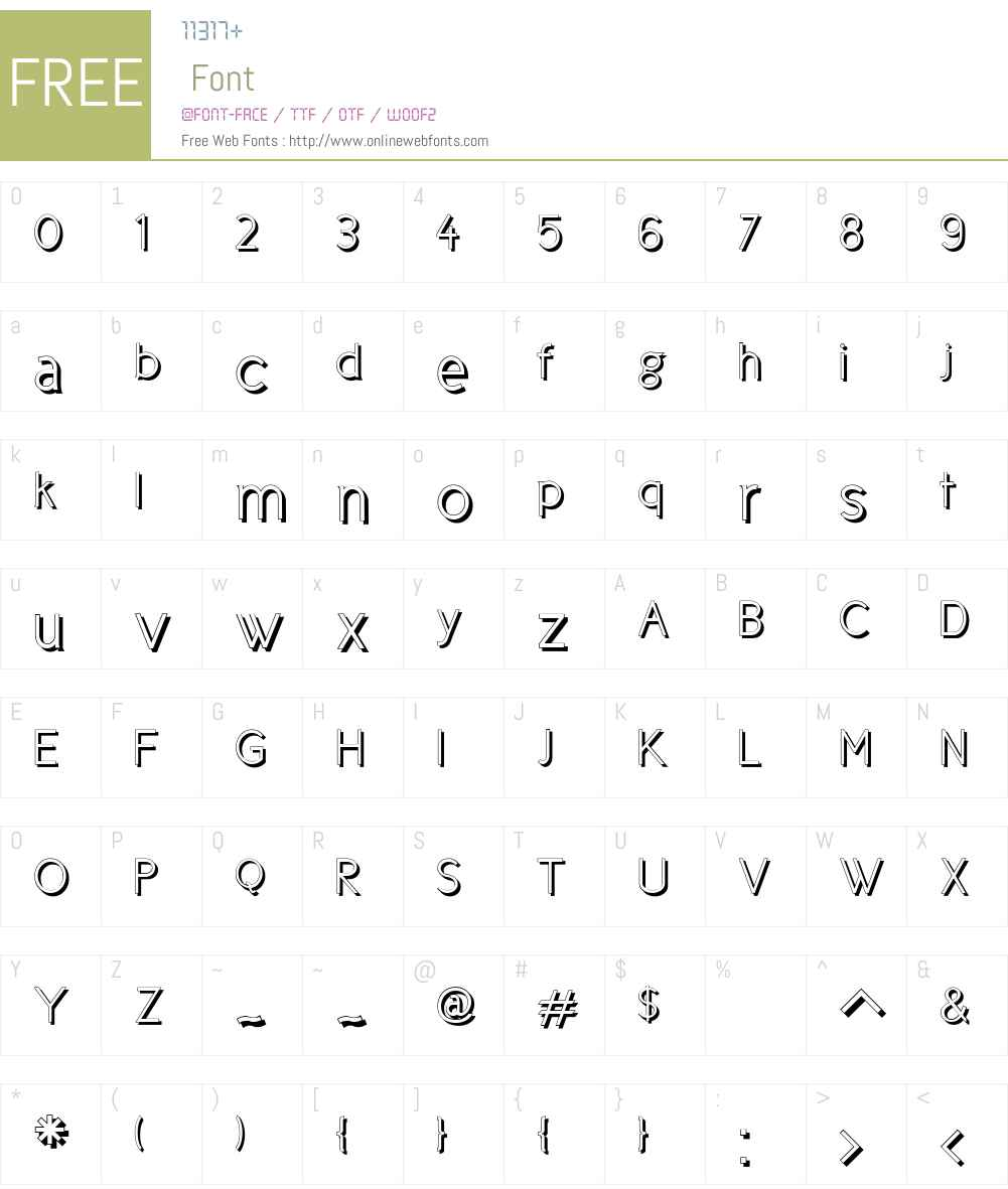 Cicle Font Screenshots