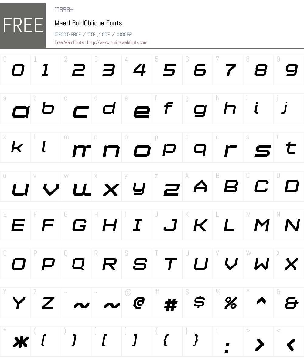 Maetl Font Screenshots