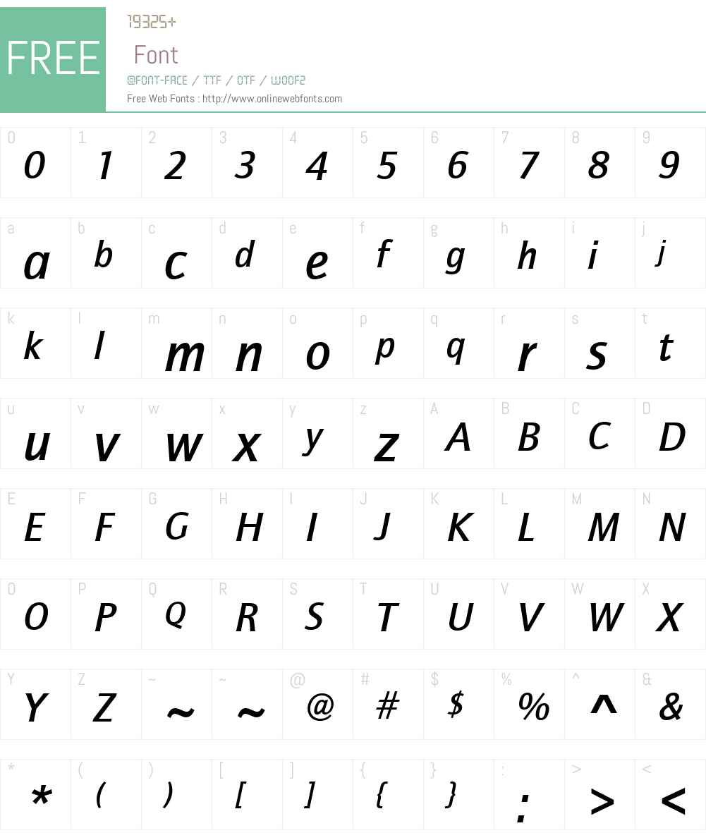 ITCQuaySansW01-MediumIt Font Screenshots