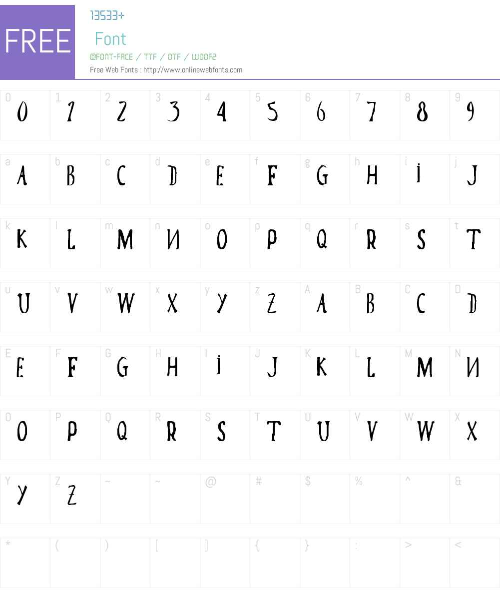 Poma Font Screenshots