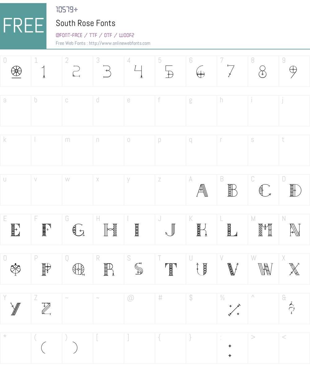 South Rose Font Screenshots