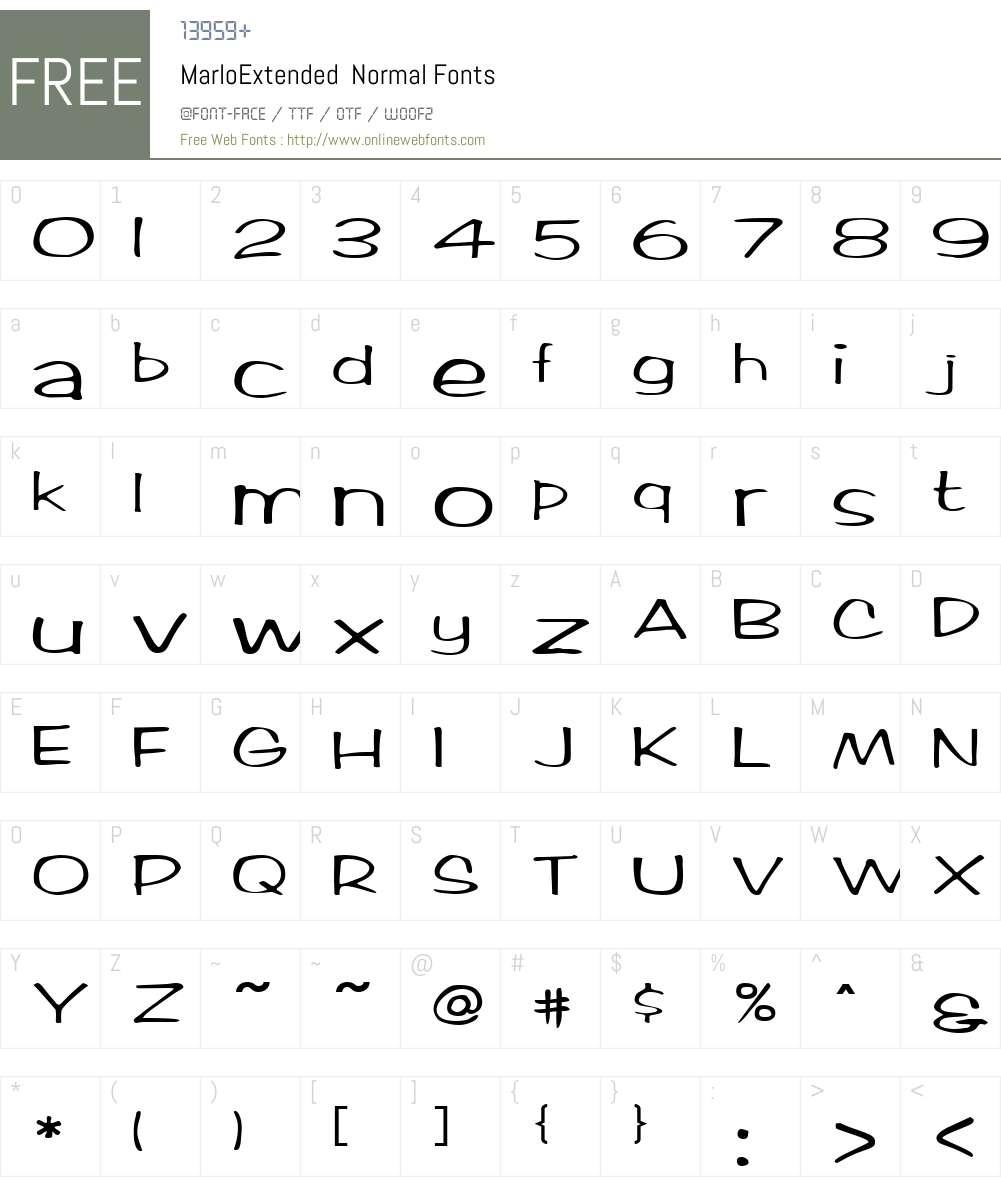 MarloExtended Font Screenshots