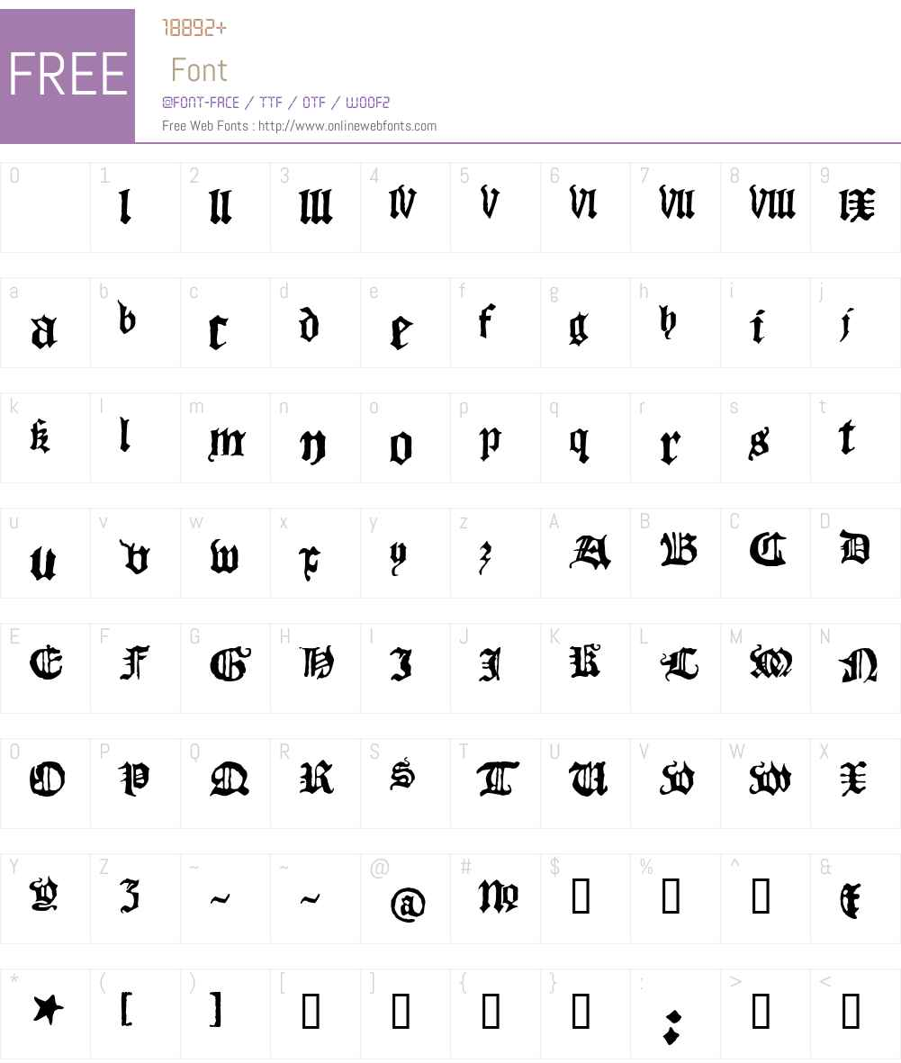 Blackletter Font Screenshots