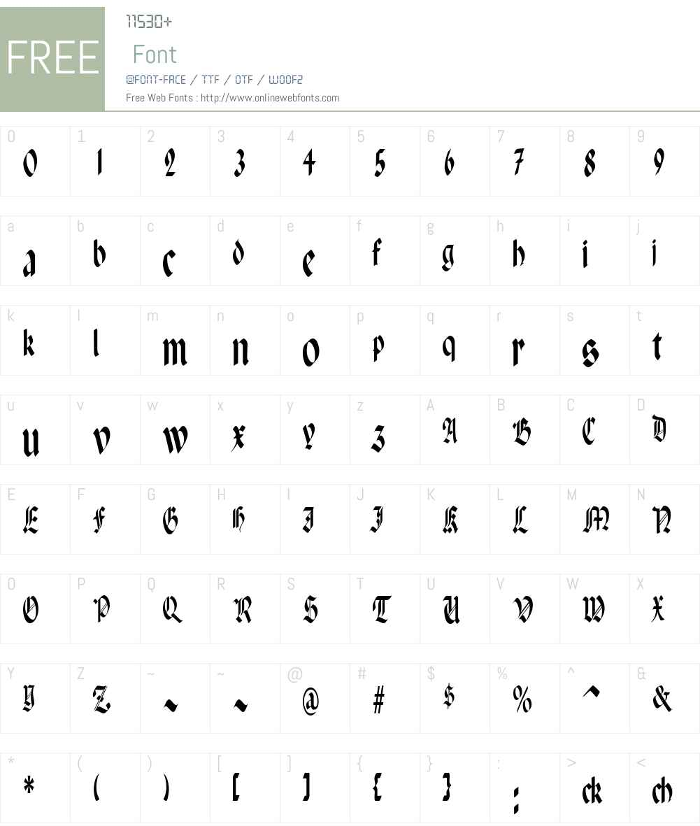 Paganini Font Screenshots