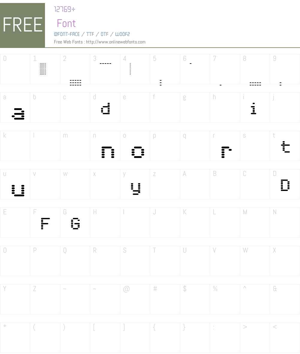 Foundry Dat Font Screenshots