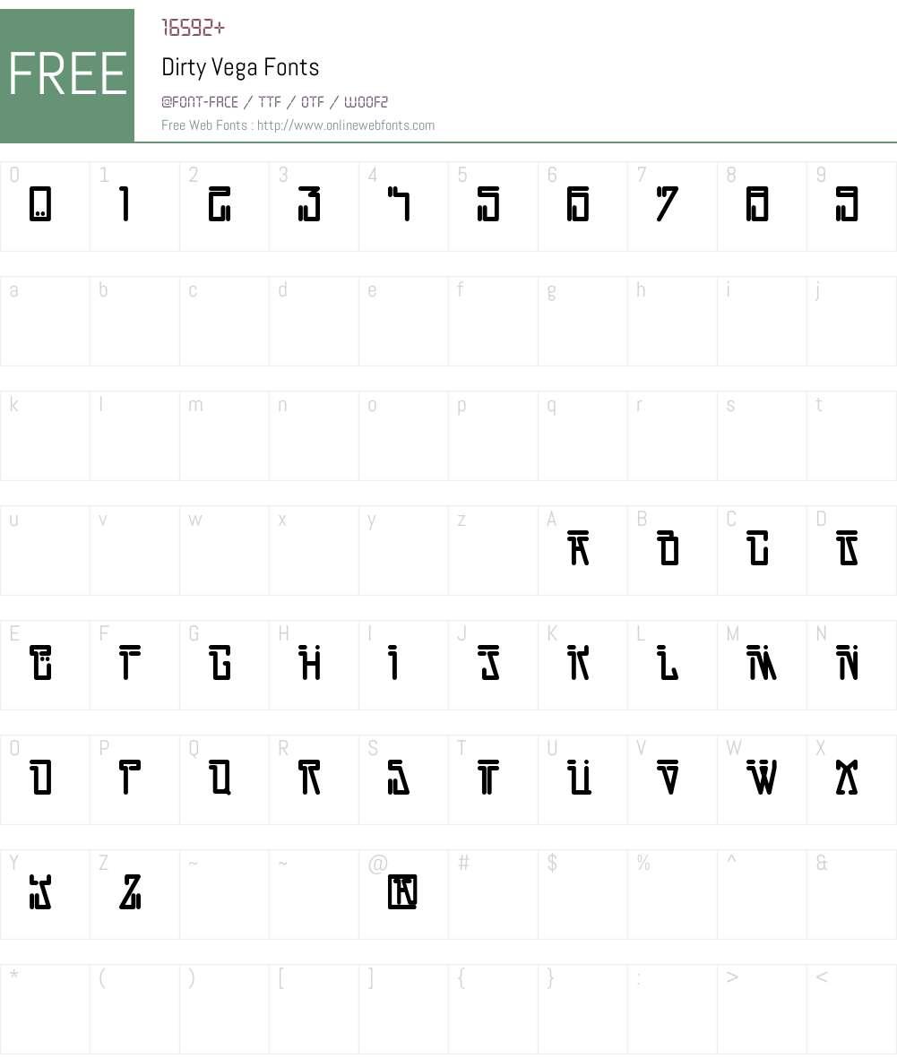 Dirty Vega Font Screenshots