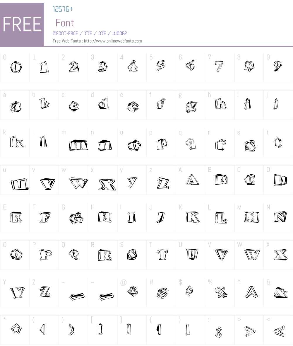 Hitech Font Screenshots