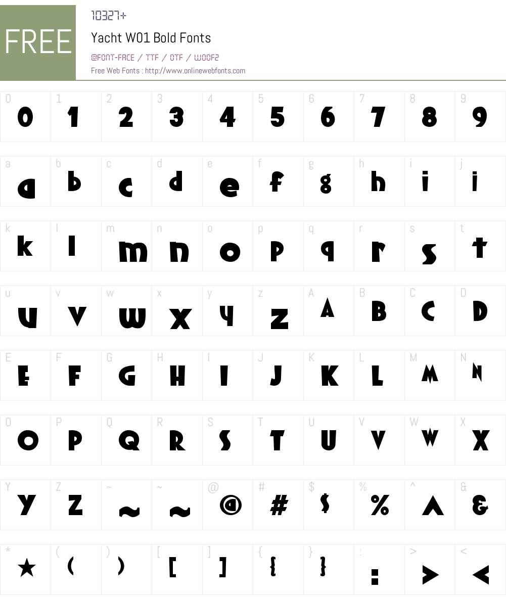 YachtW01-Bold Font Screenshots