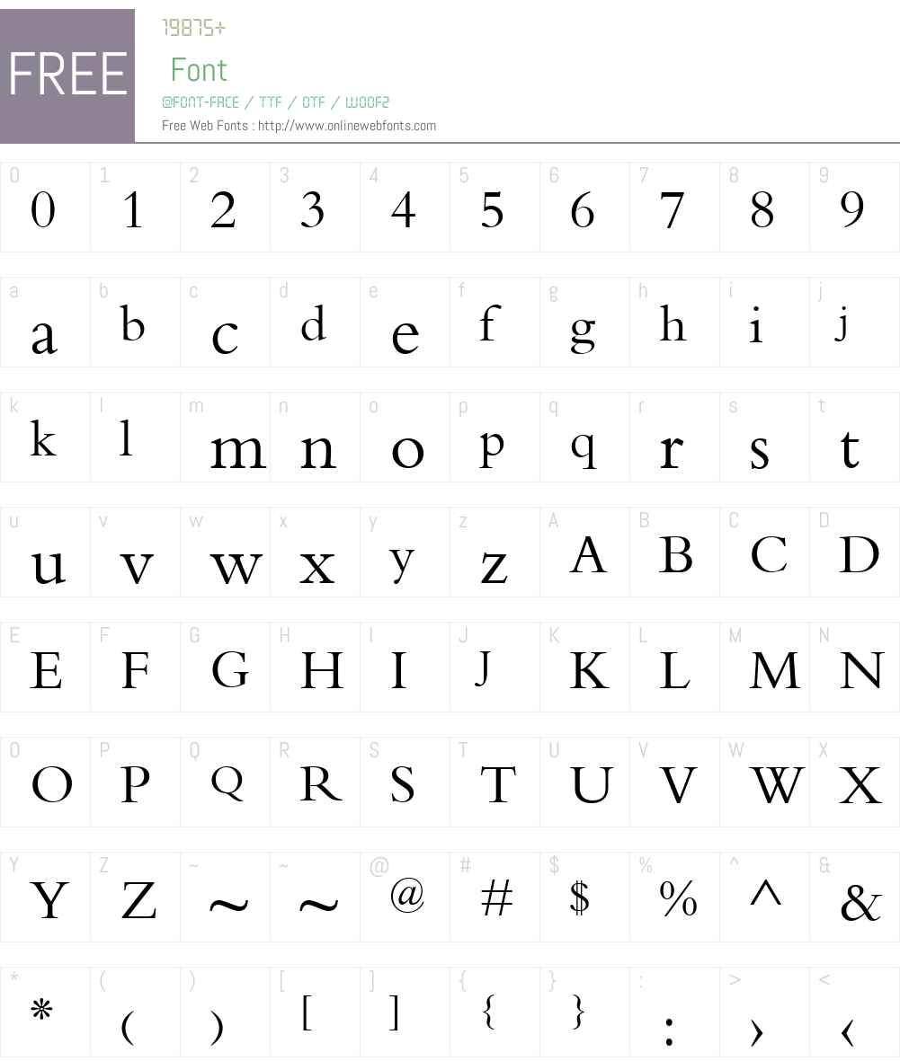 Elpida Unicode Nesxi Font Screenshots