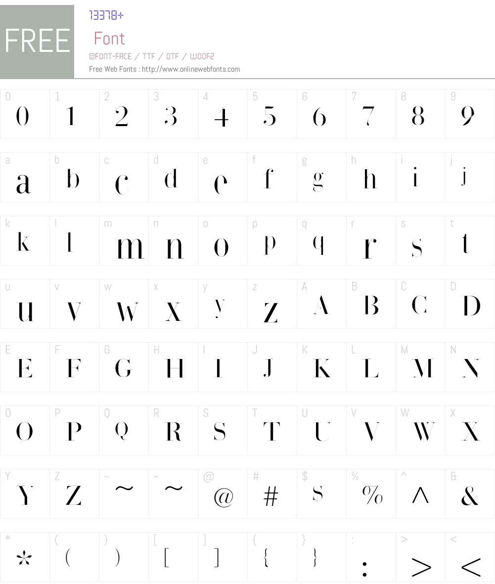 BodonisBulemy Font Screenshots