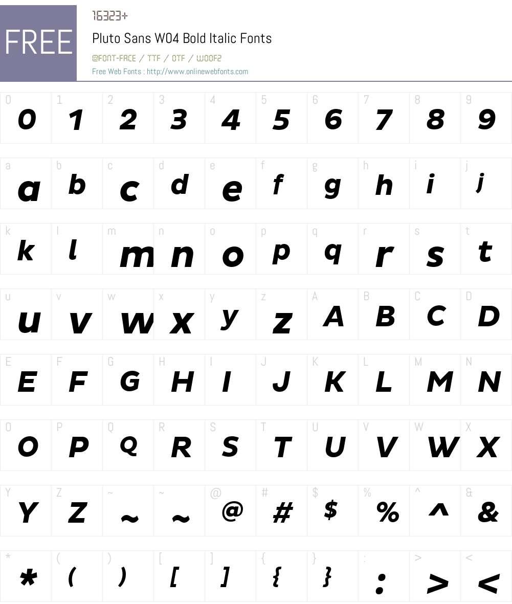 Pluto Sans Font Screenshots