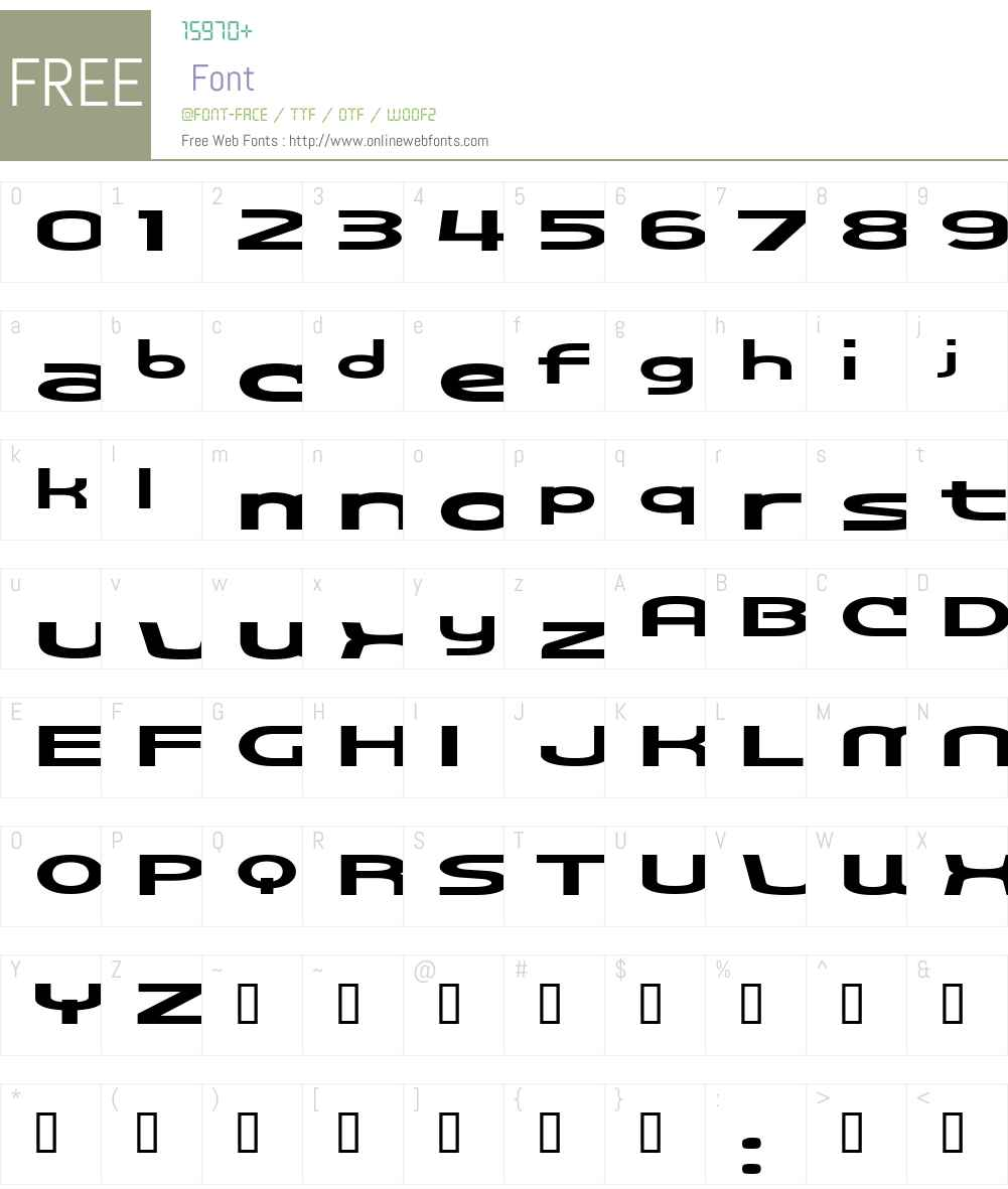 Cosmosbold Font Screenshots